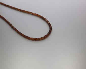 Madeira citrine Faceted Rondelle 3 to 4.5mm AA Necklace for women