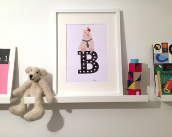 B is for Bear - art print