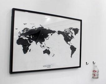 World Map [ ver. black&white ]