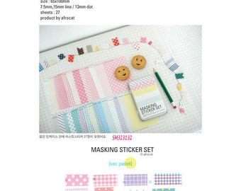 Afrocat Pastel Washi Tape Pack SM323132