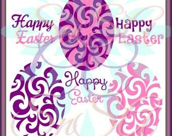 Easter Egg SVG Sale Flourish Cross Flower Split Name Pattern Stripe  Bunny Basket Hunt Peep Chick Boy Girl Bow Ribbon 18 Cricut Vinyl Decal.
