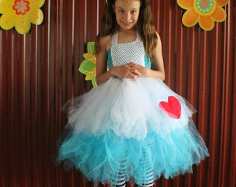 Alice in Wonderland tutu costume, Halloween tutu costume, Girls halloween costume, Alice tutu costume, Girls tutu coatume, Halloween costume