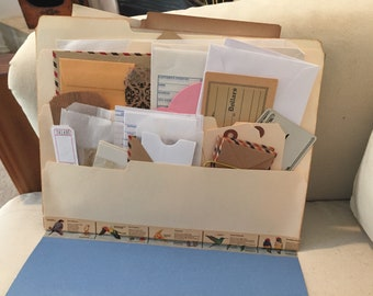 Starter kit supplies for junk journals and altered books