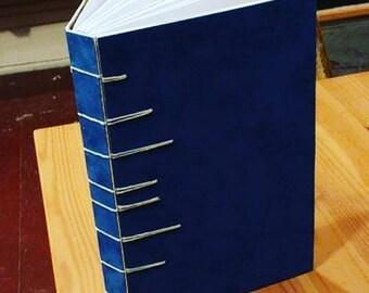 handmade blue velvet journal