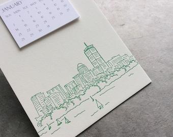 Boston Cityscape Postcard Calendar