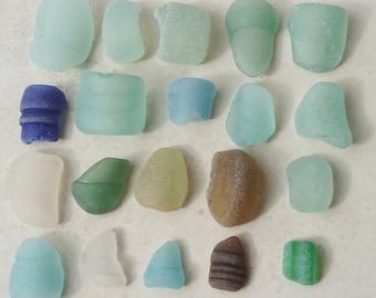 20 Partial Sea Glass Bottle Tops, Sea Glass, Genuine Sea Glass, Sea Glass Supply, Sea Glass Art, Bulk Sea Glass, Scottish Sea Glass,