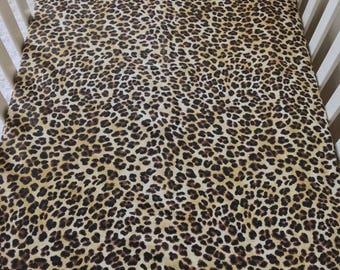 Leopard Crib Sheet, Amazon Leopard Crib Sheet, Fitted Crib Sheet, Sheet for Baby, Crib Sheet for Baby Girl, Standard Crib Sheet