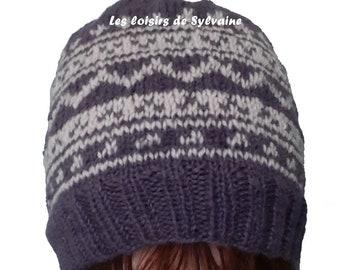 Hat 2 colors women