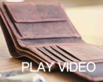 Handmade Distressed Leather Wallet, Men's Leather Wallet, boyfriend Gift, Husband Gift, Leather Wallet, Groomsman Gift, Distressed Wallet