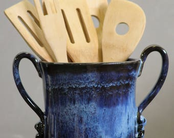 Wine Chiller Utensil Holder Snowflake Blue