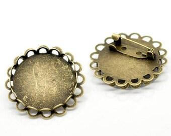 2 pin backings (pr 20mm) round tray