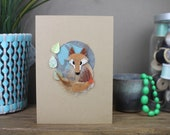 Hand Made Spring Fox Card...