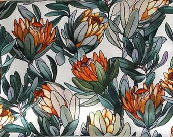 Banksia flowers ,Cotton 100% fabric, by Yard, DTP print