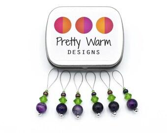 Progress Keepers - Purple Stitch Marker - Knitting Supplies - Snag Free Stitch Marker - Knitting - Beaded Stitch Markers - Gift for Knitters