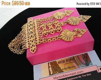 ON SALE Vintage Statement Necklace, 1960's 1970's Collectible High End Jewelry