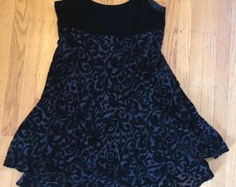 90s velvet burnout dress