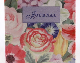 New! Vintage Hallmark Journal. Beautiful Floral Cover with Lined Pages Inside. RA8374