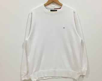 Rare !!! Tommy hilfiger small logo sweatshirt