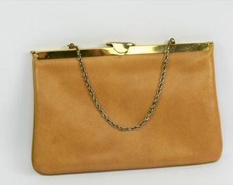 Vintage Purse - Circa 1950's - Vinyl Purse - Ideal Clutch - Brown Clutch - Mid Century Purse - Vintage hand bag - Retro Bag - Gift for her