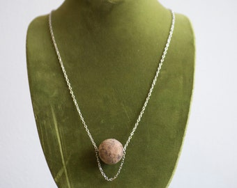 Sustainable Naturally Dyed Cork Long Necklace