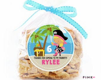 Pirate Birthday Stickers, Favor Tags, Happy Birthday Stickers, Gift Tag, Favor Tag, Printable Favor Tags :No.410