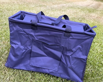 navy Utility Tote/NAVY All Purpose Large Utility Tote with Monogram