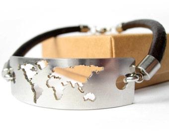 Atlas / Atlas Bracelet / World Map Bracelet / Travel Map  / Atlas Jewelry / Travel Bracelet / Wanderlust Bracelet / Travel Jewelry