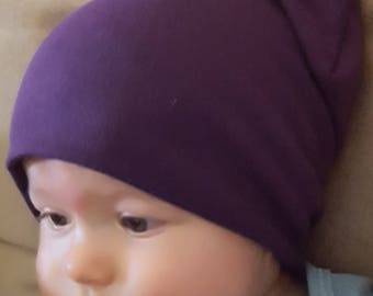 Purple Baby Slouchy Beanie