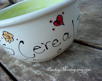 Custom pottery bowl you design personalized bowl custom ice cream bowl custom popcorn bowl granola soup snack personalized valentines day