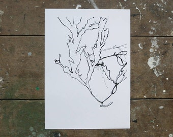 A3 Print 'Twists & Tangles'. UK Made. Printed in Cornwall on 100% Recycled Paper, Off White