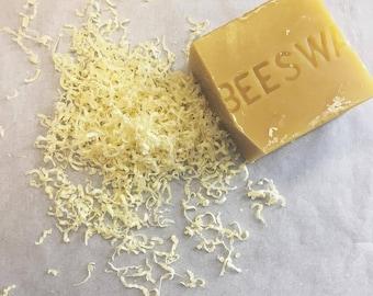 Organic Raw Natural Beeswax, Pure Wax, Natural Candlemaking Supplies, 100% Bees Wax, Honey Beeswax 4 Ounces (4oz - 110gr)
