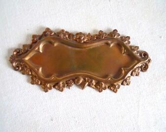 Vintage Brass Floral Frame