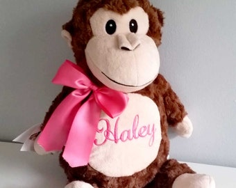 Personalized stuffed elephant,  personalized stuffed animal, Monogrammed baby gifts, personalized baby gift,