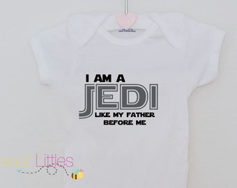 Star Wars Inspired Onesies/Jedi/Baby Boy/Star Wars Fanatic/Geek/Nerd/Cute/The Dark Side/Birthday Gift/Fan apparel/Movie/Classic