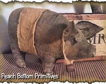 ePattern Dem Hogs!! Primitive Pig Bowl Fillers, Tucks Sewing Pattern PDF File Instant Download