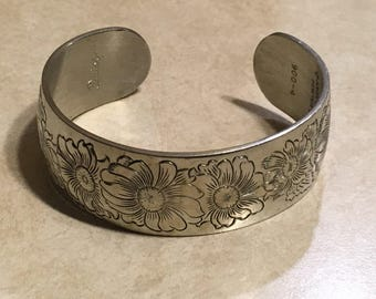 Kirk Stieff Pewter Daisy cuff Bracelet  900-4