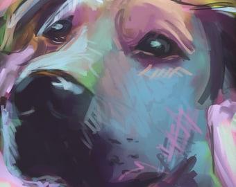 Custom Pet Portrait | Pet Memorial | Pet Portrait | Pet Paintings | Pet Loss Gifts | Pet Painting | Custom Pet Painting