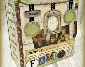 FAMILY All Occasion Scrapbook Scrapbooking Chipboard Album