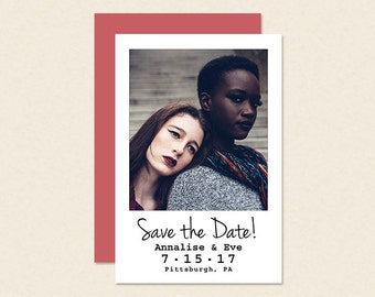 Instant Photo Save the Date Card or Magnet - Affordable Save the Date