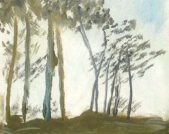 Oil painting of Trees