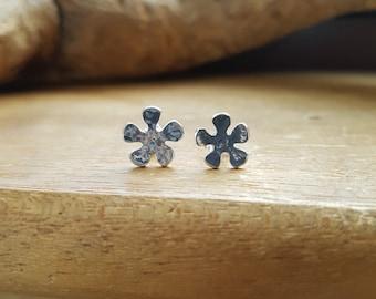 Flower Earrings, Silver earrings, Flower jewelry, Floral earrings, Earrings flower, Summer earrings, Flower stud earrings, Flower, Stud