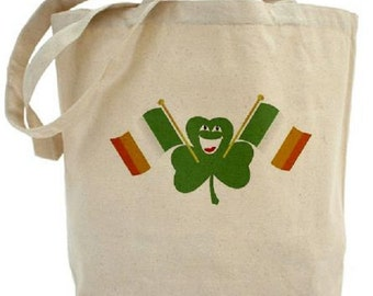 Shamrock TOTE - Cotton Canvas Tote Bag