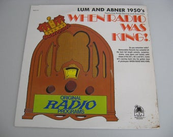 When Radio Was King! - Lum And Abner 1950's - Circa 1974