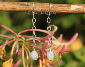 Earrings aquamarine and 925 Silver Blue