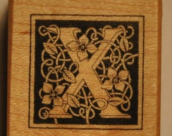 Wood stamp - letter X