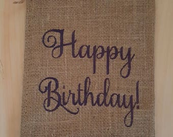 Burlap Bag, Happy Birthday! Burlap Bags, Burlap Gift Bags, Goodie Bags, Party Bags, Birthday Bags, Birthday Party Bags, Birthday Decor