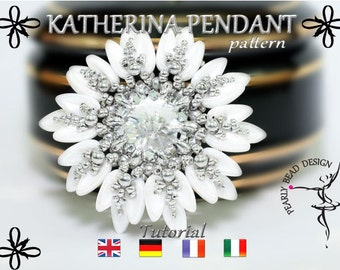 KATHERINA Pendant pattern with chilli beads DIY tutorial