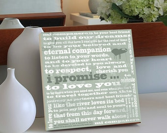 Wedding Gift for Bride, Parents Gift,, Mother of the Bride, Father of the Bride, Personalized Wedding Gift, Wedding Sign, 10x10 Birch