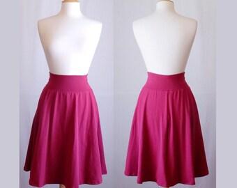 Market Skirt Full Aline Semi Circle Skirt Womens stretch Cotton Jersey Swing Skirt knee length twirl skirt custom made to order