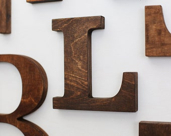 Wood letters for wall - wall letter - rustic letters - letters for wall - gallery wall decor - gallery wall - home decor - letter wall art